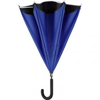 Parapluie inversé qui permet de ne plus se mouiller