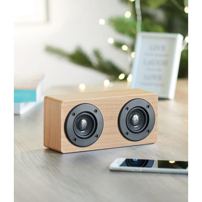 enceinte en bois -bluetooth 4.1 avec ampli intégré