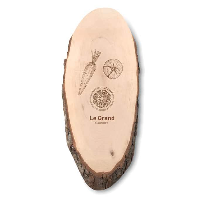 planche à découper ovale en bois avec écorce C' ta com