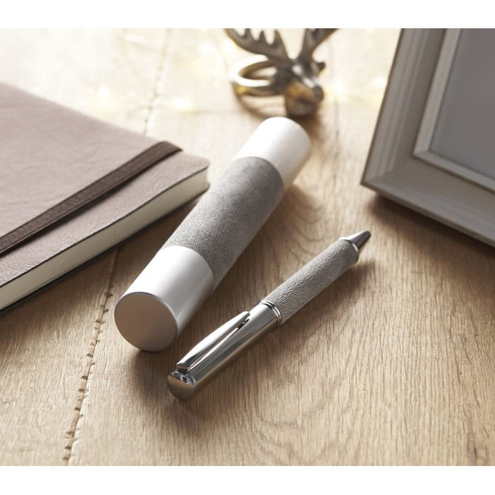 stylo à bille en métal avec boîte tube en alu - C'ta COM