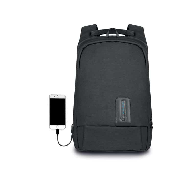 Sac à dos antivol avec chargeur de smartphone. Personnalisable