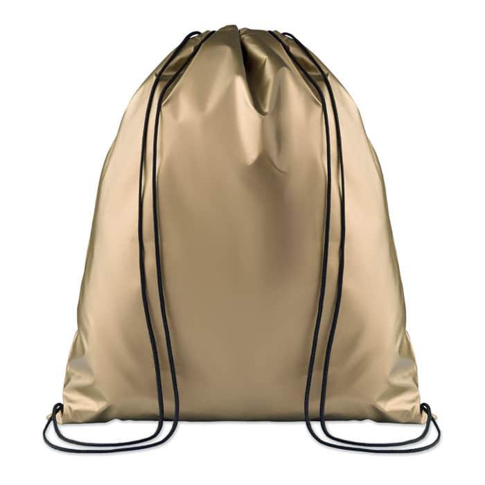 sac à dos GOLD avec cordelettes. différents coloris et personnalisable